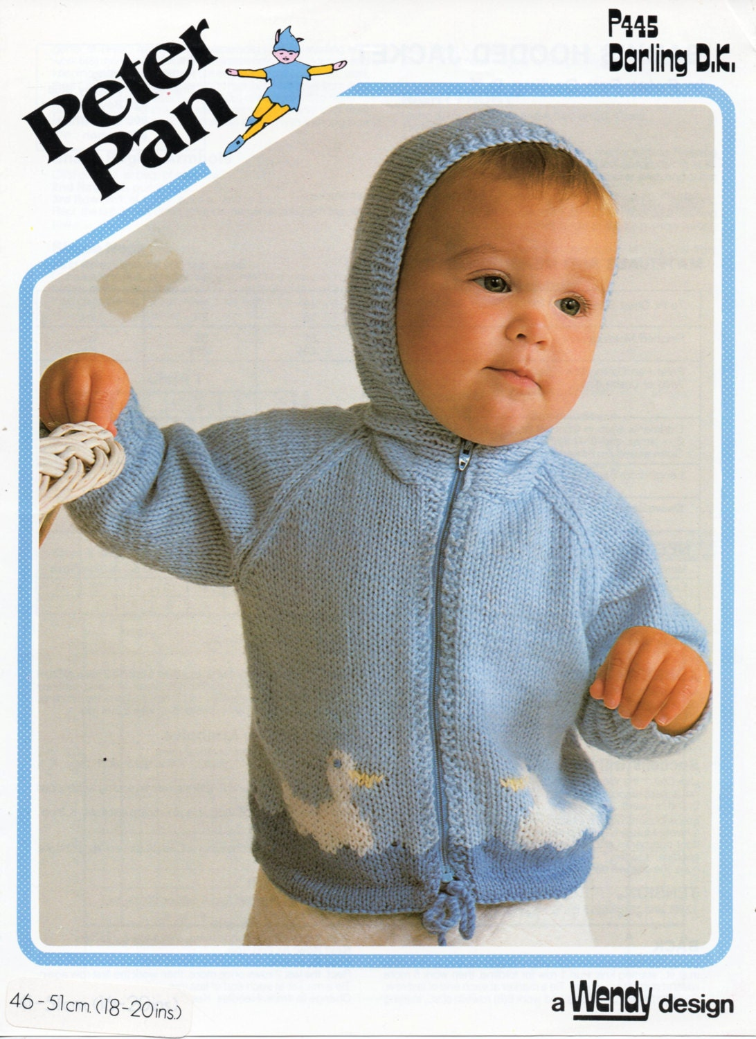 Knitting Pattern Hooded Jacket Toddler : Baby Knitting Pattern baby hooded jacket duck motif by ...