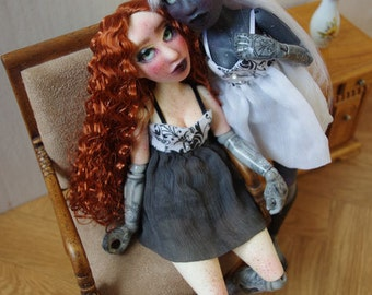 """Two BJD art doll, """"Victorian puppet"""" fullset"""