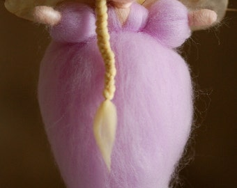 Lilac fairy-Waldorf inspired Angel angy, wool