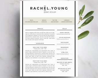 modern resume template and cover letter template for word diy printable resume 4 pack - Printable Resume Template