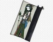 Cloud steampunk tribal aviatrix cosmetics pouch Myka Jelina wristlet, travel bag,