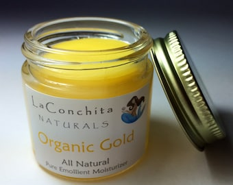Organic Gold Intensive Moisturizer for Dry Skin - All Natural, Unscented with Argan Oil, Antioxidants, Nutrient Rich Botanicals 1oz On Sale