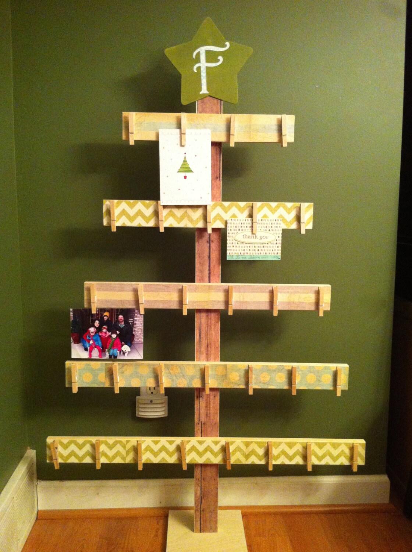 tree card holder 4ft card holder rustic christmas