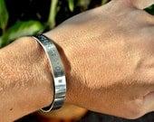 Men's Personalized Bracelet . Larger Sizes Cuff Bracelet . TB&Co