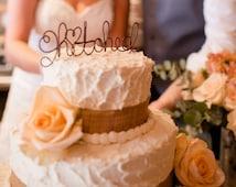 Rustic Chic Cake Topper, Wedding