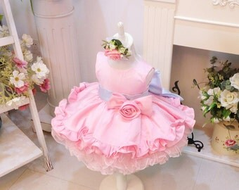 HOT!! Toddler/Infant/Baby/Newborn Thanksgiving Dress Toddler, Baby Christmas Dress, Glitz Pageant Dress, Baby Girl Birthday Dress, PD058