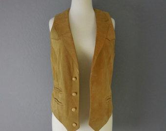 70s Suede Pioneer Wear Vest /Waist Coat Rock & Roll
