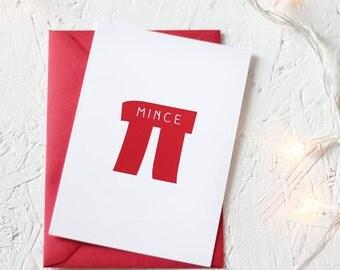 CHRISTMAS MINCE PI Card Packs Geek Pie Formula Pie Unique Festive Maths Equation Red Science Twist Single Card Packs Set White Nerd Holiday
