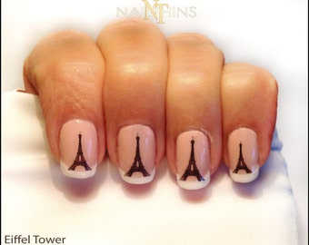 Eiffel Tower Nail Decal Paris nail art Eiffel nail design