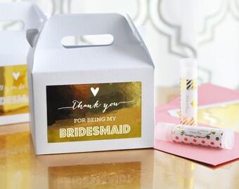 Bridesmaid Gift Box - Bridesmaid Gift Ideas - Cheap Bridesmaid Gifts Unique Bridesmaid Gifts Bridesmaid Gift Bag (EB2313TNK) THANK Set of 8