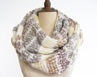 infinity scarf /knitted scarf/knitting scarf/scarves/plus size scarf/plus size