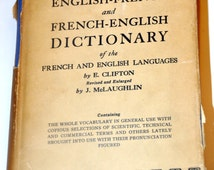 Popular items for french english on Etsy