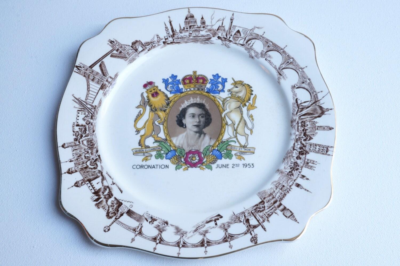 queen elizabeth ii royal coronation souvenir by thevintageparadigm. Black Bedroom Furniture Sets. Home Design Ideas