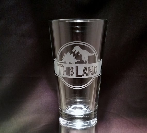 Firefly This Land Etched pint glass Firefly quote inspired pint glass Curse you This Land Quote Dinosaurs Funny Firefly