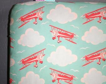 Airplanes Crib Sheet - Baby Crib Sheet - Airplane Baby Bedding - Airplane Nursery - Planes Baby Bedding
