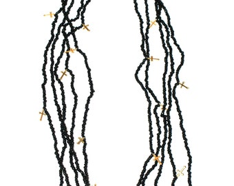 Beads Multi raw necklace