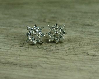READY TO SHIP Snowflake Bridal Earrings, Crystal Snowflake Earrings, Winter Wedding Jewelry, Wedding Jewelry, Bridal Jewelry