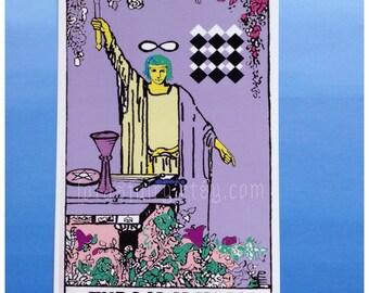 Tarot Card The Magician print postcard 4x6