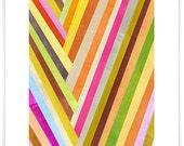 Checkmark Abstract Art Print
