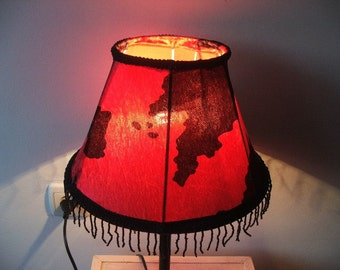 Mad Cow- Red and black cow print  in a unique and stylish table lamp