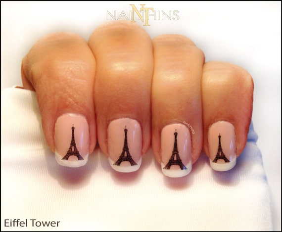 Like this item? - Eiffel Tower Nail Decal Paris Nail Art Eiffel Nail Wrap Design
