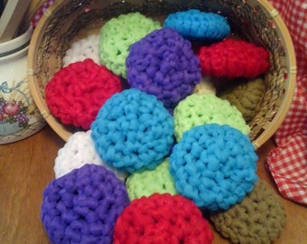 Crochet kitchen dish pot scrubbers pattern, Instant Download, diy, housewarming gift,