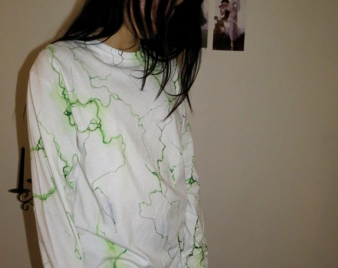 Green Marble Long Sleeved T-shirt