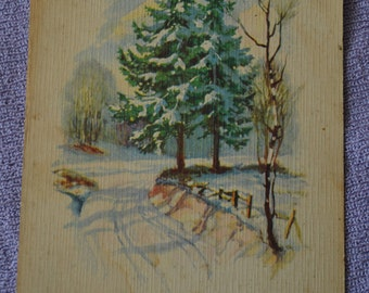 Antique Latvian Christmas postcard. 1938