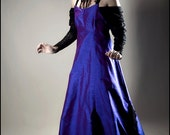 Iridescent Silk Orchidea Gown by Kambriel - Brand New Designer Sample - Ready to Ship