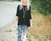 "LARGE Art Print Leggings ''Black Forest"" - Frame it or Wear it - Art print by Heidi"