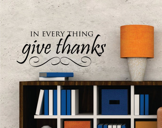 Thanksgiving Wall Decal - Thanksgiving Decor - Front Door Decoration -  Kitchen Vinyl Wall Decal