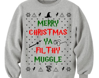 HARRY POTTER CHRISTMAS, Christmas Gift. Lotr sweatshirt. hogwarts alumni. always harry potter.