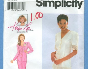 1995 Misses' Two-Piece Dress or Suit Kathie Lee Collection Size 8,10,12 - Vintage Simplicity Sewing Pattern 9335