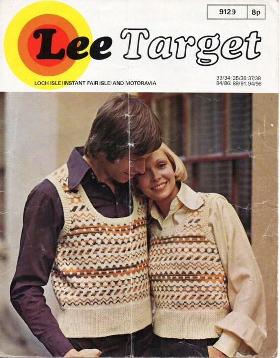 womens fair isle tank top knitting pattern vintage 1970s