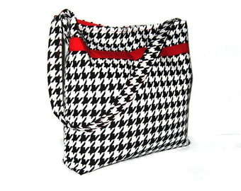 Women's Purses / Handbags, Shoulder Bags, Slouchy Bags, Houndstooth, Made To Order