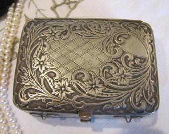 EXQUISITE German Silver 1900's Box  Purse