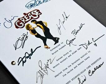 Grease Film Script with Signatures / Autographs Reprint Unique Gift Christmas Xmas Present TV Fan Geek Musical John Travolta Danny Sandy