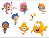 Bubble Guppies Edible Stickers for Cake Topper Brithday on Frosting and Icing sheets YOU CUT YOURSELF!