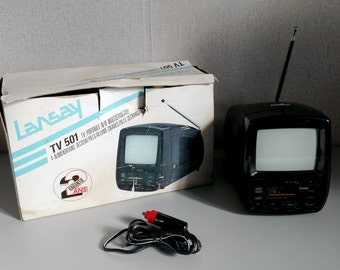 Vintage TV - portable Télévision - Lansay TV 501 - in Working Condition