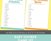 Baby Shower Games Set A4