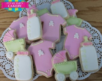 Baby Shower Cookies Set - 1 Dozen