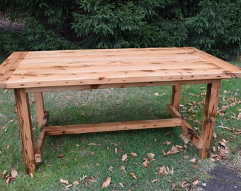 The Alice - Reclaimed Wood Country Dining Table, Farmhouse Table