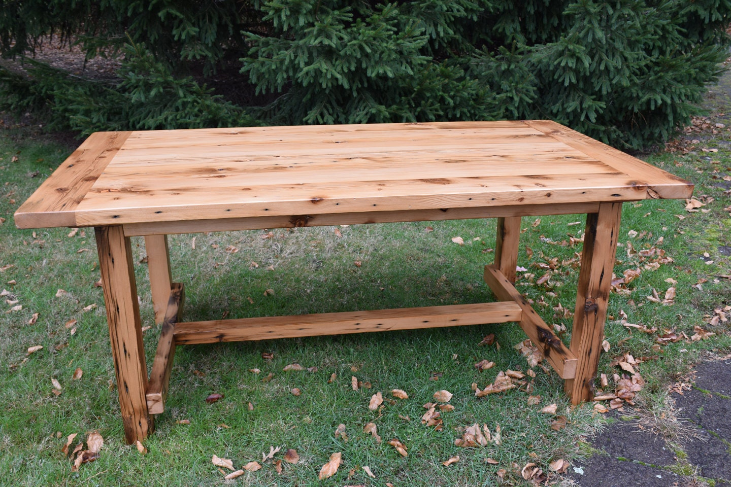 The Alice Reclaimed Wood Country Dining Table Farmhouse