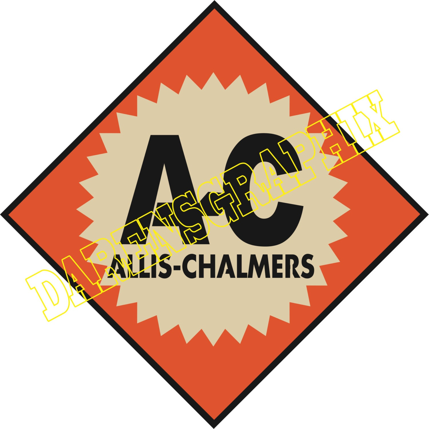 Allis Chalmers Decal - Vintage Reproductions |Allis Chalmers Emblem