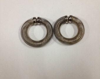 vintage metal earrings