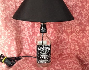 Lamp made with bottle