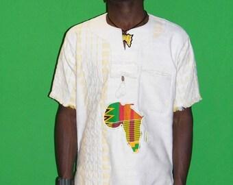 White 100% cotton Children dashiki