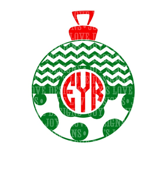 Items similar to monogram christmas ornament with chevron