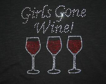 Girls Gone Wine Rhinestone Tee