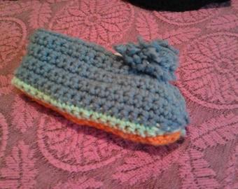 Crocheted Footie or Slipper